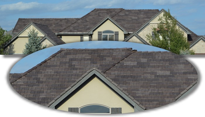 Curb Appeal Roofing Construction can put this type of multi-width slate shingle that is impact and wind resistant on your home.