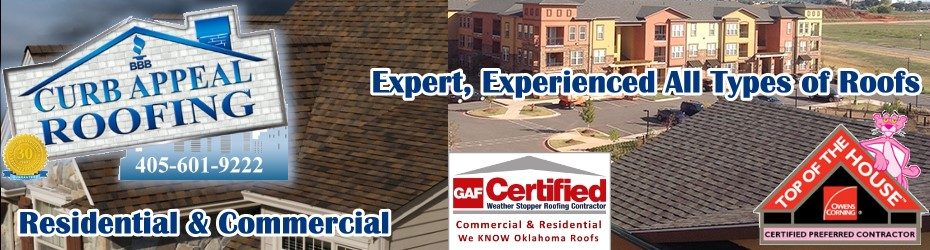 Curb Appeal Roofing Construction is Expert at Roofing New Projects and Reroofing - Even Repairs in Oklahoma